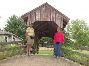 Covered bridge at Beckman Mill