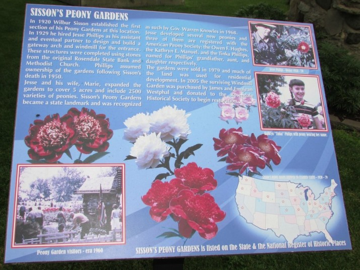 Peony Garden sign