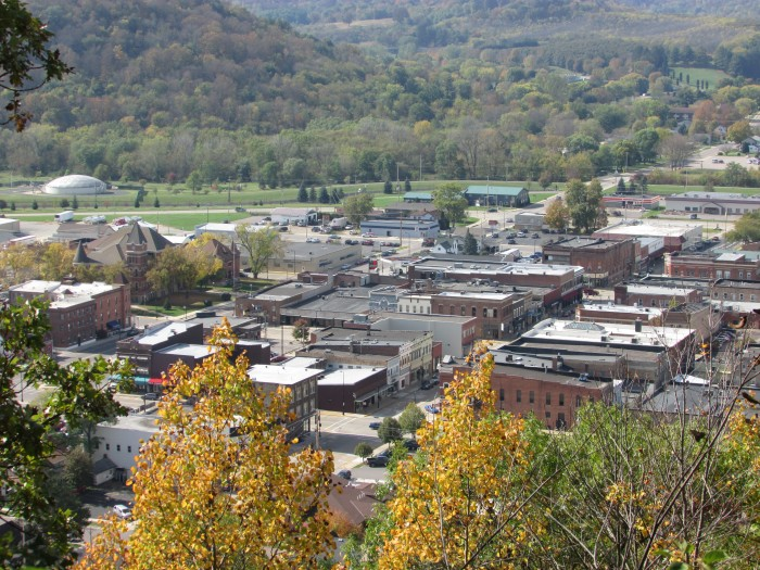 Downtown Richland Center from Miner Hill