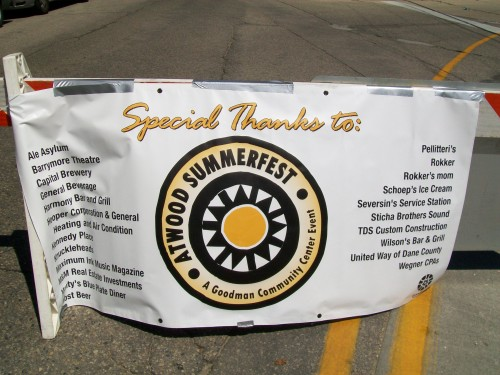 Atwood Summerfest banner