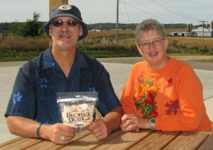 Al and Laurie at Decatur Dairy in Brodhead