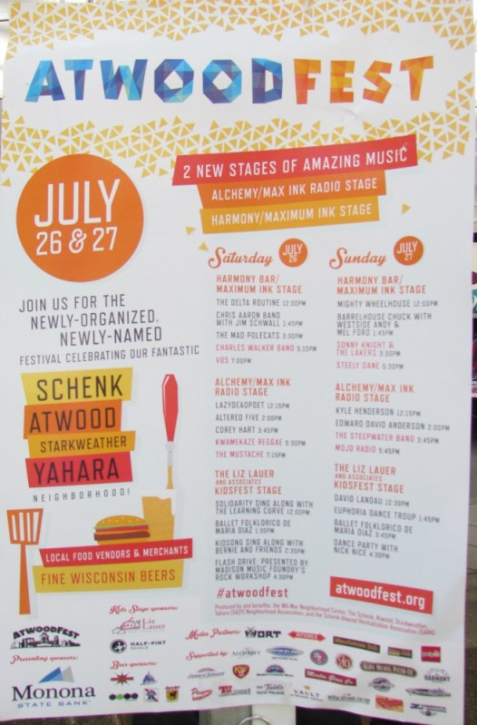 Atwoodfest music lineup 2014