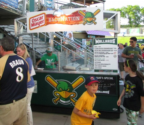 Bacon Food Stand Madison Mallards