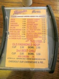 Baumgartner menu
