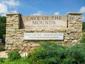Cave of the Mounds sign