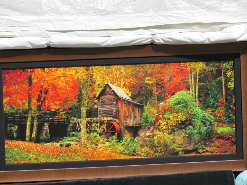 Grist Mill in Fall painting