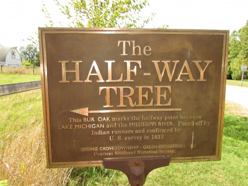 Half-Way Tree sign