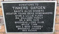 Tinkers Garden plaque