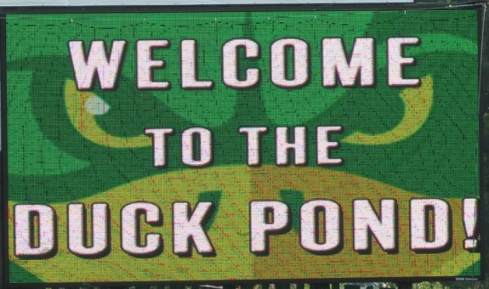 Welcome to the Duck Pond sign