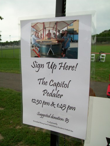 Capitol Pedaler sign