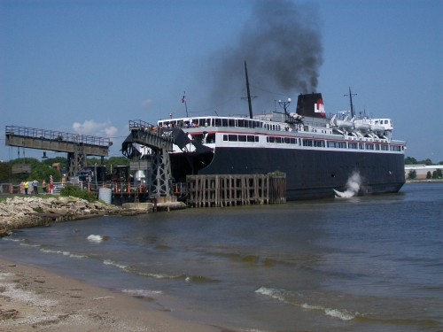 Badger Carferry docking in Manitowoc