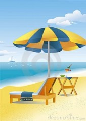 beach-scene-beach-umbrella
