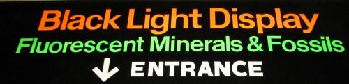 Black Light Display sign