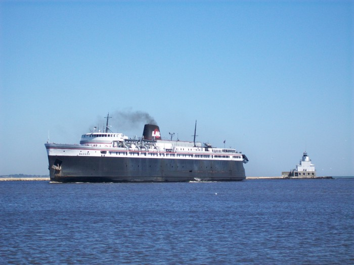 Badger Car ferry arrival in Manitowoc