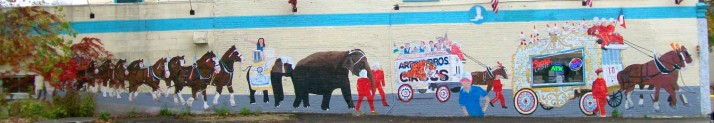 Circus Mural in Watertown