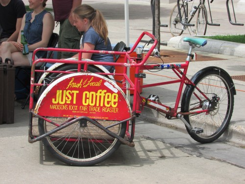 Just Coffee delivery bike