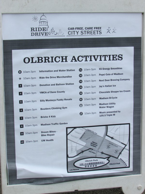 Olbrich Village Activities at Ride the Drive