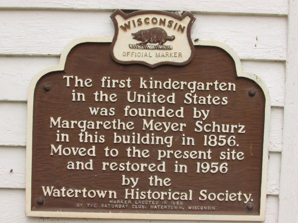 First Kindergarden marker in Watertown