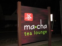Ma*Cha Tea Lounge sign