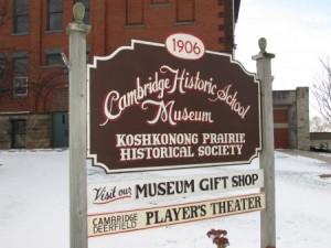 Cambridge Museum sign