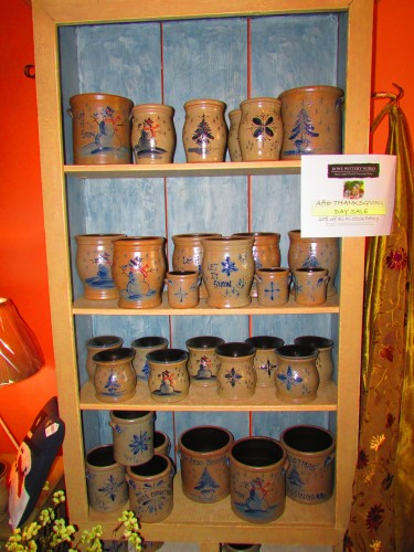 Rowe Pottery display