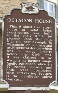 Octagon House marker in Watertown