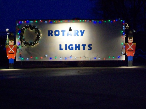 Waunakee Rotary Lights sign