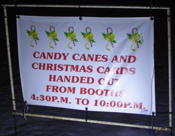 21 - Candy Cane sign at Fantasy in Lights