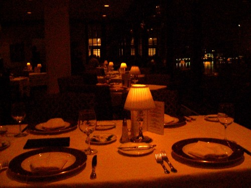 Edgewater Dining Room at night