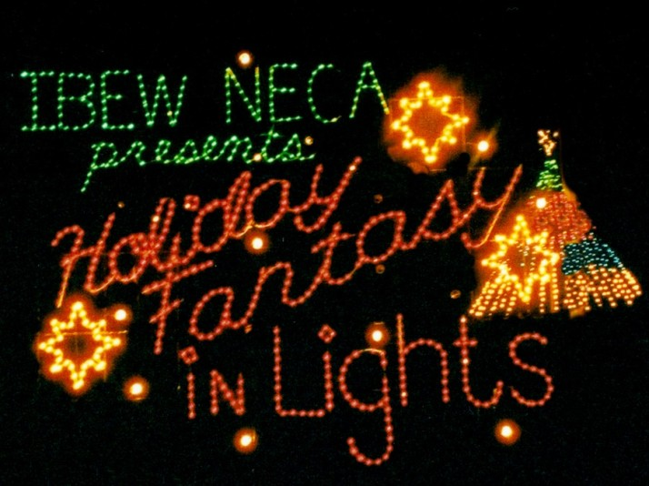 Holiday Fantasy in Lights sign