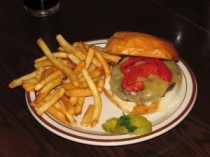 Burger at The Night Owl in Evansville WI