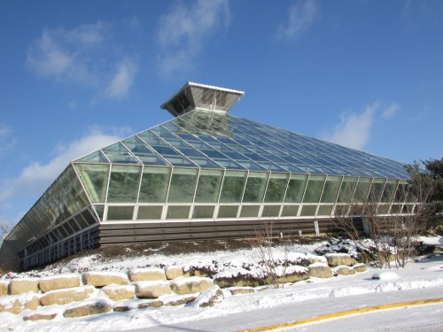 Boltz Conservatory at Olbrich in winter