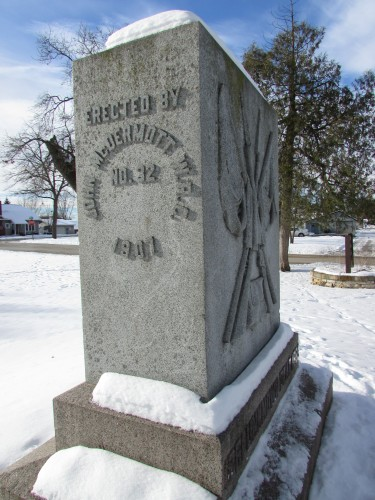 Civil war Monument in Boscobel