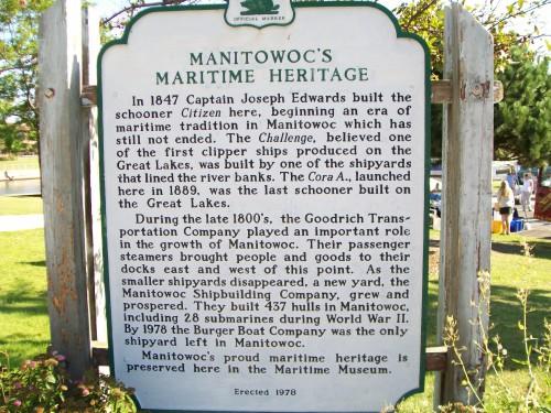 Manitowoc Maritime Heritage sign
