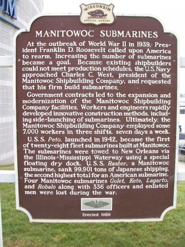 Manitowoc Submarines sign