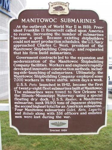 Manitowoc Submarines sign