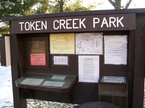 Token Creek Park sign