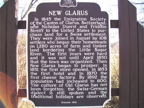 New Glarus sign