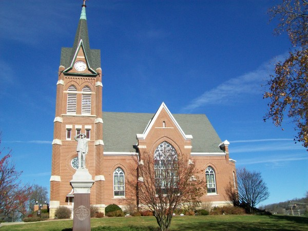 Swiss United Church of Christ and statue