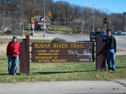 Sugar River Trail sign