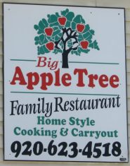 Big Apple Tree Family Restaurant sign in Columbus