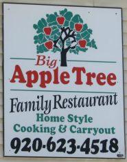 Big Apple Tree Family Restaurant sign in Columbus