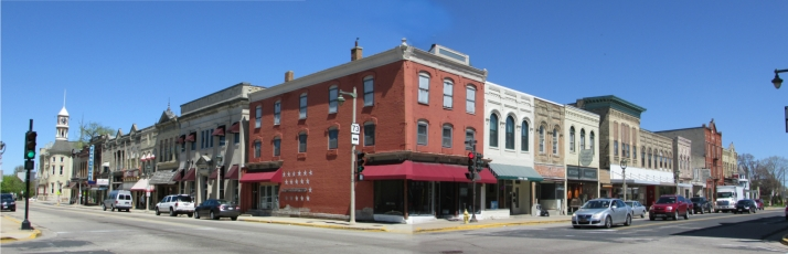Downtown Columbus corner panorama