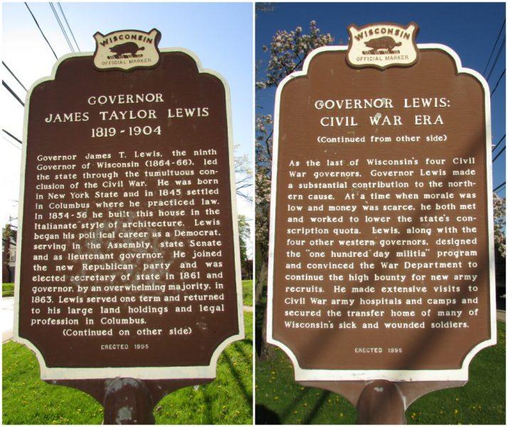 Governor James Taylor Lewis marker