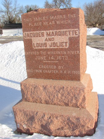 Marquette and Joliet Marker