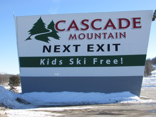 Cascade Mountain sign