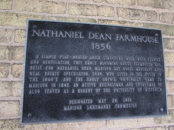 Dean House Plaque