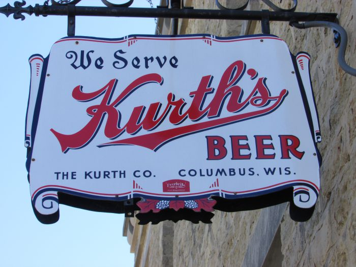 Kurth Brewery sign in Columbus