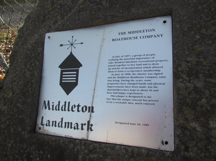 Middleton Boathouse Company plaque