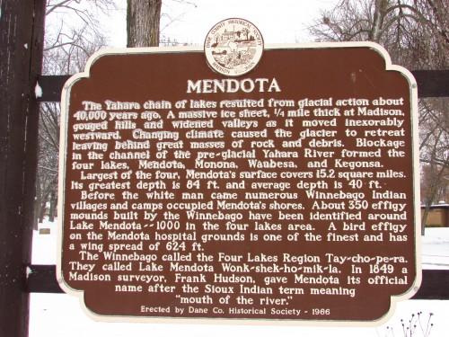 Mendota County park Mendota sign